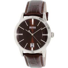 Hugo Boss Men's 1513132 Brown Leather Quartz Watch
