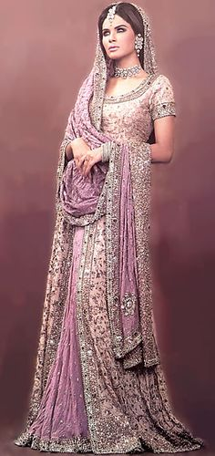 BW6840 Tea Rose & Medium Lavender Lehenga Lehenga Cholis, Bridal Lehenga, Indian Wedding Lehngas, Modern Lehenga Designs in Traditional Colors Bridal Wear