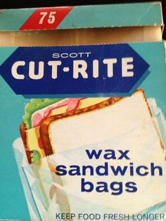I remember when this was the only kind of sandwich bag.  Before cellophane bags or wrap.  We always had a peanut and jelly sandwich tucked into one of these.  :o)