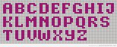 Plantillas alpha alfabeto para hacer pulsera de hilo con nombres