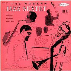 Modern Jazz Sextet, Norgran 1076, David Stone Martin