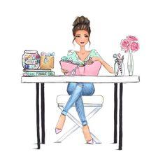 trendy Ideas for garden illustration girl Garden Illustration, Illustration Girl, Girl Illustrations, Fashion Art, Girl Fashion, Girly, Fashion Sketches, Drawing Fashion, Fashion Sketchbook