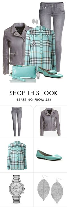 """Mint & Gray with a side of flats"" by ginga1203 ❤ liked on Polyvore featuring H&M, Barbara Bui, Burberry, Steve Madden, MICHAEL Michael Kors, Humble Chic and Latico"