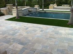 Marble Pool Deck in Portofino completed by U.S. Brick and Block