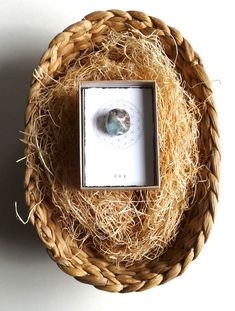 Unique Favor -- INTENTION STONE with gift box --- Small Gift, favor, candy free Easter Basket
