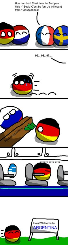 A Classic German Trick ( Germany, France, Netherlands, Sweden, Russia ) by The Oxy Moronical #polandball #countryball