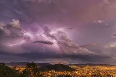 Lightning in the night skies above the city of Cochabamba Cochabamba, Bolivia - Design Pics Inc/REX