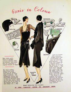 Fashion Art, Vintage Fashion, Fashion Illustration Vintage, Fashion Illustrations, Black Felt, Vogue, Original Vintage, Jazz Age, 1920s