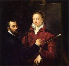 Sofonisba Anguissola, Self-Portrait with Bernardino Campi