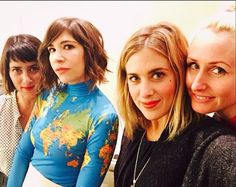 """whole-lies-and-half-smiles: """"Carrie + Streicher Sisters """" Carrie Brownstein, Half Smile, Carry On, Sisters, Queen, Blouse, Tips, Beauty, Products"""