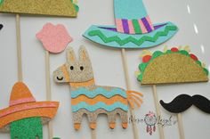 Cinco De Mayo Themed Photo Booth Props by KaraLeighDesigns