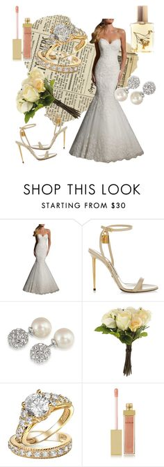 """""""Wedding day look!"""" by chelseyhd ❤ liked on Polyvore featuring Tom Ford, Carolee, OKA, Bling Jewelry, AERIN and Flidais Parfumerie"""