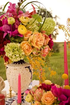 Vibrant Colors #tablescapes