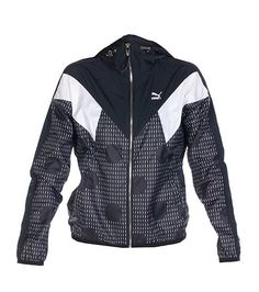 833d1d66 PUMA Lightweight windbreaker jacket Long sleeves Mesh for ventilation  Embroidered PUMA logo on chest 2 front