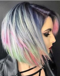 55 Awesome Pulpriot Hair Color Styles for Short Hair 2018