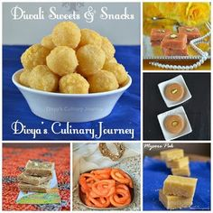 Collection of Diwali sweets and Snacks Recipes ( List of Indian desserts and savory snacks for Deepavali/ Diwali)