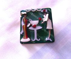 A personal favorite from my Etsy shop https://www.etsy.com/listing/211593901/women-pins-by-lucinda-christmas-pin