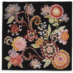 Brand New Salvatore Ferragamo Purple Floral Scarf Textiles, Flower Prints, Flower Art, Border Embroidery Designs, Small Scarf, Designer Scarves, Scarf Design, Floral Scarf, Vintage Scarf