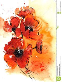 abstract poppy art - Google Search