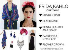 Frida Kahlo DIY Costume Halloween #Fridakahlo #halloweenDIY
