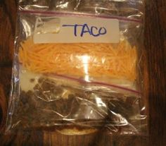 Around the Table with Tami: Taco Kits for Single Serve Meals