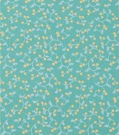 "1930's Cotton Fabric 43""-Whispy Vines Green"