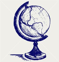 globe drawing This is really good for a school project!