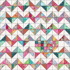 Looking for your next project? Youre going to love iHeart Chevrons Quilt Pattern by designer Marie Joerger. - via Craftsy Half Square Triangle Quilts – co-nnect. A quick and easy project using your sewing machine. Make adorable patchwork placemats using Chevron Quilt Pattern, Quilt Block Patterns, Pattern Blocks, Quilt Blocks, Half Square Triangle Quilts Pattern, Half Square Triangles, Easy Quilt Patterns Free, Square Quilt, Diy Quilt