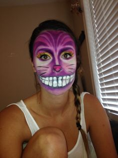 Cheshire Cat inspired make-up.