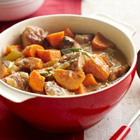 Pork and Sweet Potato Stew  [[★★★★☆]] - actually kind of sweet and PERFECT with some thick crusty bread to sop up the liquid :)