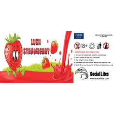 Lush Strawberry Flavor E Liquid