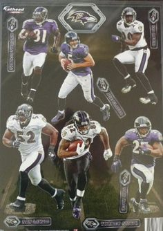 Baltimore Ravens Fathead Set 6 Player Team Set NFL Official Vinyl Wall Graphics by Fathead. $29.95. No loss of adhesion and no damage to your walls. Thick high-grade vinyl resists tears, rips and fading. Peel and place whenever, wherever. Dazzle fans and friends with a hi-definition, colorful depiction of your favorite player on the wall. SET OF 6 BRAND NEW *MINI* FATHEADS! These are RARE, Genuine, Official FATHEADs Where Else Can You Find These FATHEAD 2012 BAL...