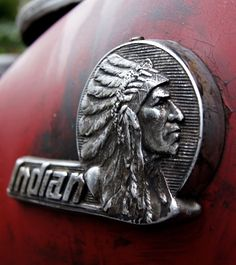 cool old Indian Motorcycle tank logo. There will be a set of these on my bike shortly. Motos Vintage, Vintage Indian Motorcycles, Vintage Bikes, Vintage Cars, Indian Motorbike, Indian Bobber, Retro Bikes, Vintage Logos, Triumph Motorcycles