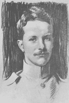 Kermit Roosevelt – John Singer Sargent's sketch from the cover of his book  called War in the Garden of Eden. - Kermit Roosevelt MC (1889 – 1943) was a son of U.S. President Theodore Roosevelt. He was a graduate of Harvard University, a soldier serving in two world wars (with both the British & American Armies), a businessman, & a writer who explored two continents with his father. He fought a lifelong battle with depression & alcoholism, & died from suicide