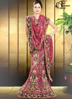 Pink Georgette Indian Bridal Designer Lehenga Choli Online Shopping