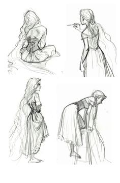Tangled - Jin Kim ✤ || CHARACTER DESIGN REFERENCES | キャラクターデザイン • Find more at https://www.facebook.com/CharacterDesignReferences if you're looking for: #lineart #art #character #design #illustration #expressions #best #animation #drawing #archive #library #reference #anatomy #traditional #sketch #artist #pose #settei #gestures #how #to #tutorial #comics #conceptart #modelsheet #cartoon #back #poses || ✤