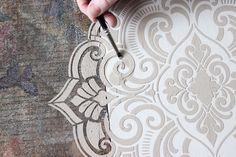 Learn thisRaised Stencil Texture Technique - it's fast and easy!