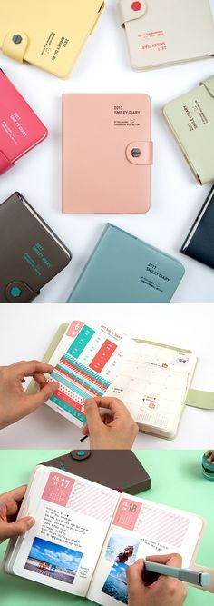 Take your daily adventures into writing and plan out your wonderful days ahead with this useful 2017 daily scheduler! This beautiful planner comes in many colorful covers to choose from, along with an adorable button closure, card pockets, and decorative and index stickers! Also, there are so many cute, color illustrations for all the major holidays and seasons. What's holding you back? Go check it out!