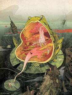 Victo Ngai Illustrations - Trippy illustrations from Victo Ngai, a NY based illustrator from Hong Kong, who graduated from Rhode Island School of Design. Huge Gallery here. Art And Illustration, American Illustration, Creative Illustration, Psychedelic Art, Art Inspo, Doodle Drawing, Psy Art, Art Graphique, Art Design