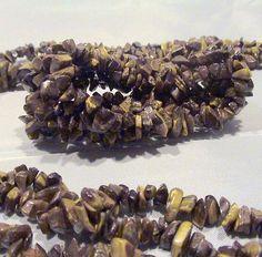 Gemstone Rock Chips Necklace & Stretch Bracelet Set by MetroStyle #MetroStyle