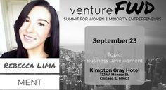 I am so humbled and honored to be speaking at this year's VentureFWD conference for Women and Minority Entrepreneurs! If you are in the Chicago area you should come watch me speak and all the other amazing speakers on September 23rd! For ticket information check out www.venturefwd.io! Look forward to seeing you all there!