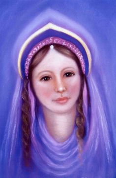 Lady Portia, twin Flame of the Lord Master R.  Call upon Her to assist in your inner transformation.  She radiates a gentle Violet Light into the world.