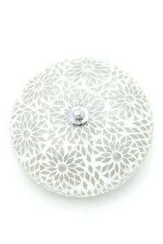 Oosterse plafondlamp 24 cm Goa Bohemian transparant wit - Sfeerverlichting Online