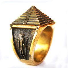 Pyramid Ring - All Size Style Heavy Biker Harley Rocker Men's Jewelry (Br-010) (9)