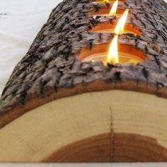 Log Cabin Builder - Log Candle Holder (for campfire maybe?)
