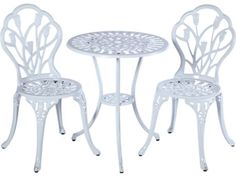 Alfresco Home Tulipano Cast Aluminum 3 Piece Bistro Set