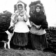 Ireland; baskets of peat