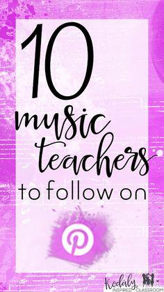 10 Music Teachers to Follow on Pinterest: Great list!