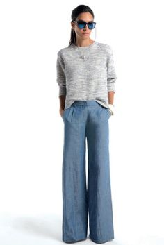 wide leg jeans -- clean and chic