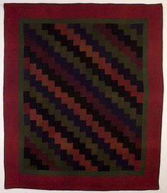 """Quiz: Is this a """"modern"""" quilt ? No, almost 100 yrs old. Ohio Amish Streak of Lightning Quilt; Amish Quilt Patterns, Amish Quilts, Antique Quilts, Vintage Quilts, Yellow Quilts, Contemporary Quilts, Small Quilts, Quilt Making, Quilting Designs"""